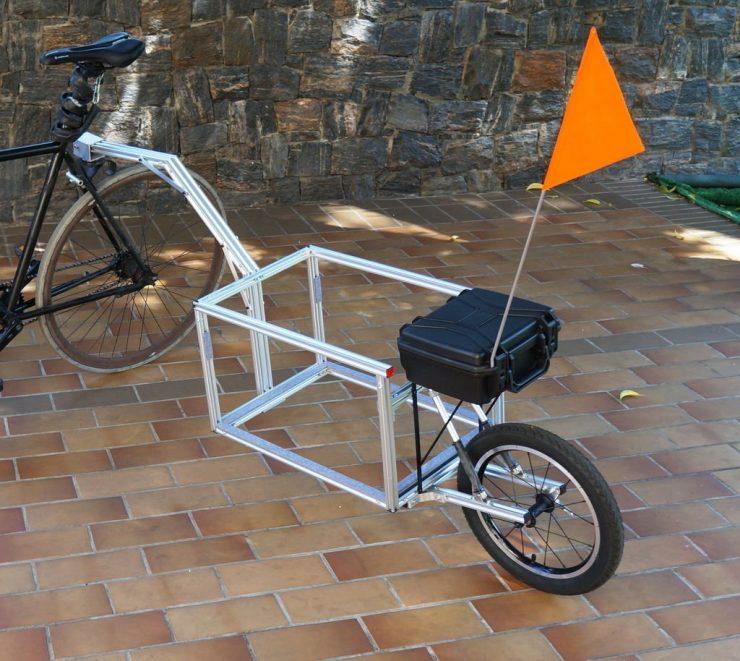 Легкий и удобный велосипедный прицеп (без сварки)