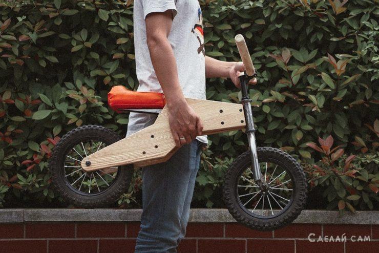 Велосипед со съемными педалями своими руками