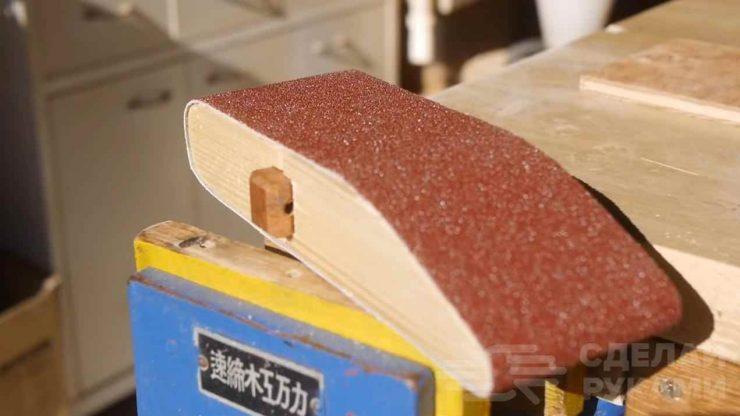 Шлифовальный блок своими руками из деревянного бруса