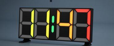 Часы с адресуемыми светодиодами
