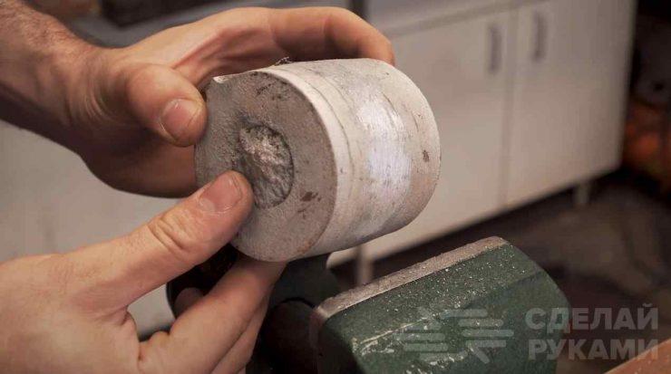 Как сделать литые алюминиевые ролики для гриндера