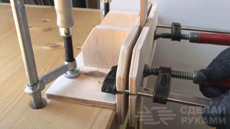 Столярные тиски из фанеры на скорую руку