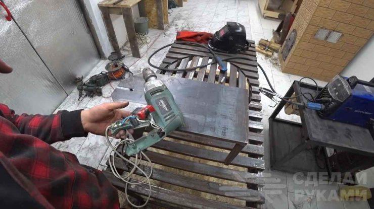 Станок-ножницы по металлу из электродрели