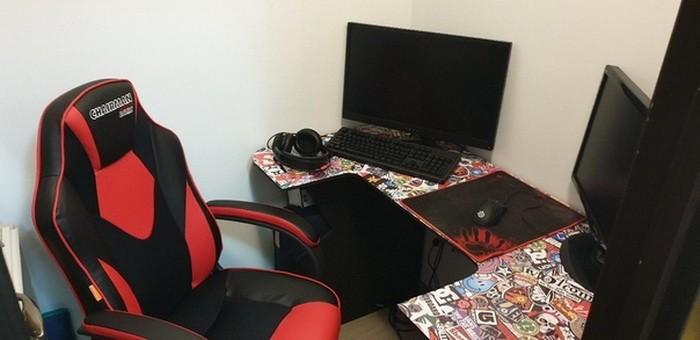 Бюджетный самодельный компьютерный стол из osb-плит