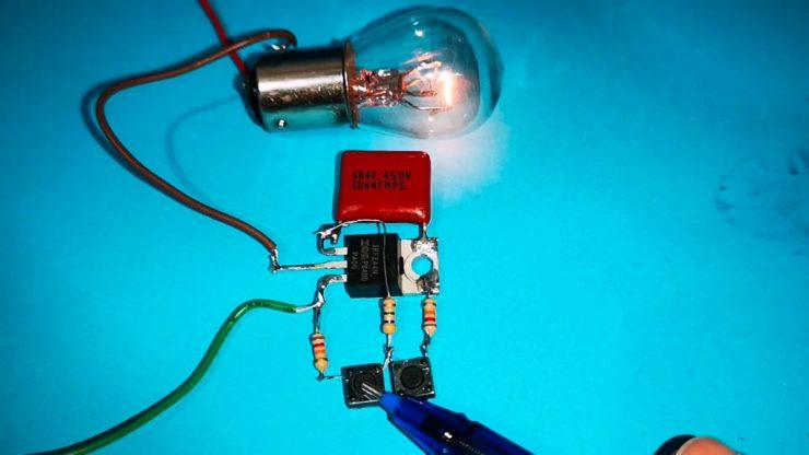 Как сделать кнопочный электронный регулятор на одном транзисторе. Прощай переменный резистор