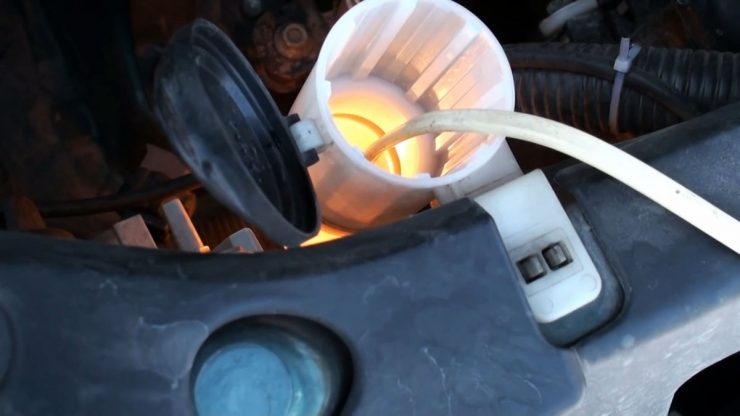 Как разморозить омывайку в бачке самодельным обогревателем
