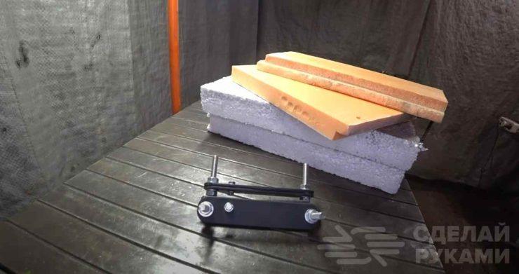 Самодельный ручной инструмент для резки пенопласта