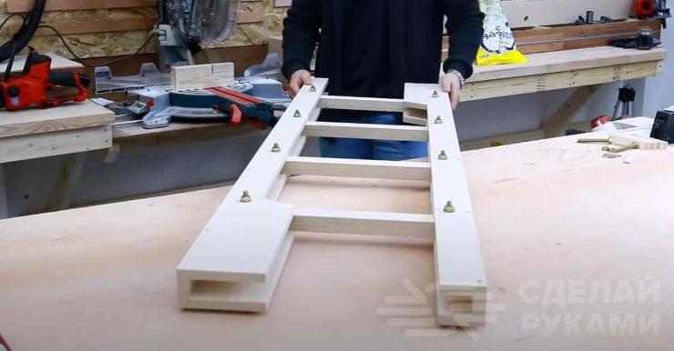 Складная приставная лестница из фанеры