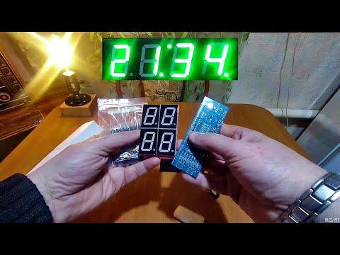 Электронные Светодиодные часы из Китая.(Набор сделай сам)