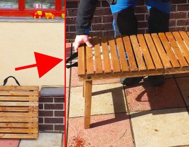 Как из дерева сделать раскладной туристический стол